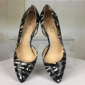 BCBG Black Snake Print Sexy Pumps